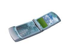 电池现代电话 免版税库存图片
