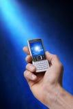 电池现有量电话照片 免版税库存照片
