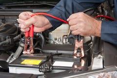 电池电缆 免版税库存图片