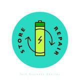 电池线性时髦象 免版税库存照片