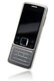 电池经典电话反映白色 库存照片