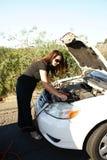 电池缚住妇女 图库摄影