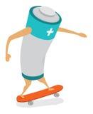 电池能量滑冰 库存图片