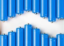 电池蓝色通知 免版税库存照片