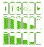 电池象集合 套电池充电级别 库存例证
