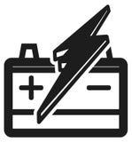 电池象-例证 免版税库存照片