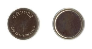 电池锂 免版税库存图片