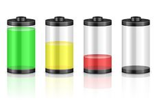 电池集合 库存照片