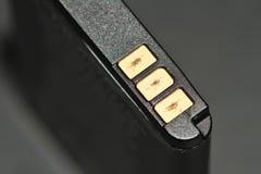 电池终端 免版税库存图片
