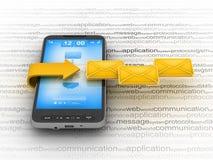 电池e邮件电话 向量例证