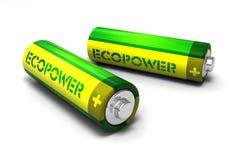 电池eco 免版税库存图片