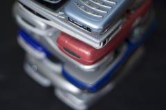 电池jenga电话 免版税图库摄影