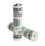 电池usd 免版税图库摄影