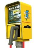 电汽车的充电器 库存图片