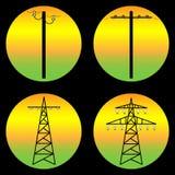 电源传输塔 库存照片