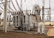 电源变压器kV 110  免版税图库摄影