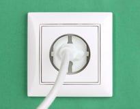 电源插座白色 免版税库存图片