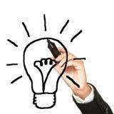 电灯泡企业想法 免版税图库摄影