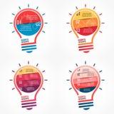 电灯泡传染媒介infographic套模板 图库摄影