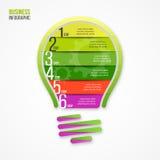 电灯泡传染媒介infographic模板 库存照片