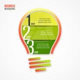 电灯泡传染媒介infographic模板 库存图片