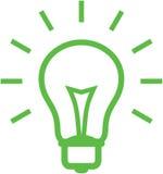 电灯泡例证光向量 图库摄影