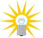 电灯泡例证光 免版税库存图片