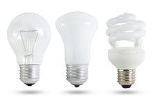 电灯泡光三 免版税图库摄影