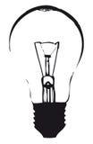 电灯泡光分级显示 库存照片