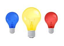 电灯泡光向量 免版税图库摄影