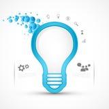 电灯泡光向量 免版税库存图片