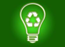 电灯泡光回收 免版税库存照片