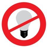 电灯泡光没有 免版税图库摄影