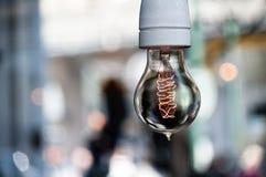 电灯泡光 免版税库存照片