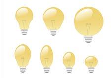 电灯泡光 库存例证