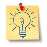 电灯泡创造性想法启发不是光办公室 库存照片