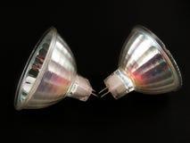 电灯泡卤素亮点 免版税库存图片