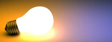 电灯泡发光的光 向量例证