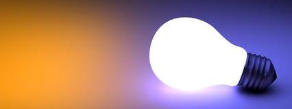 电灯泡发光的光 皇族释放例证