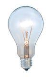 电灯泡发光的光 免版税库存图片
