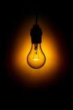 电灯泡发光的光 免版税图库摄影