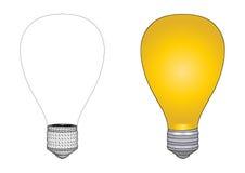 电灯泡向量 库存照片