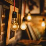 电灯泡和图片 库存照片