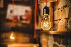 电灯泡和图片 免版税库存照片