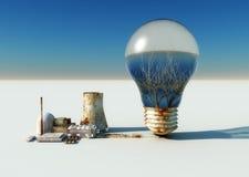 电灯泡和生态系 皇族释放例证