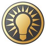 电灯泡图标光 库存图片