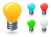 电灯泡图标光 免版税库存图片
