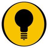 电灯泡图标 免版税库存照片