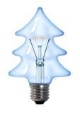 电灯泡圣诞灯结构树 免版税库存照片