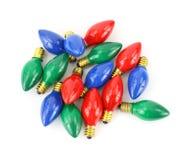 电灯泡圣诞节五颜六色的光 免版税库存照片